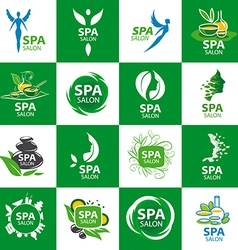 Large set of logos for spa salon vector
