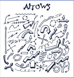 lot pretty arrows sketches vector image