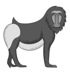 Mandrill icon monochrome vector