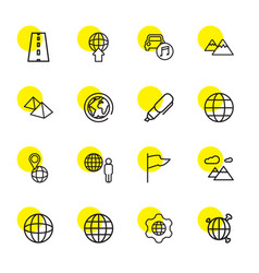 map icons vector image
