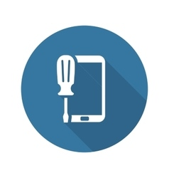 Mobile Repair Icon Flat Design vector image