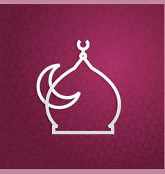 Mosque paper art ramadan kareem eid ied mubarak vector