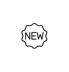 new arrival icon vector image
