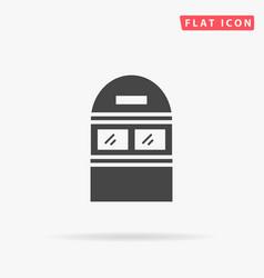Newspaper kiosk booth vector