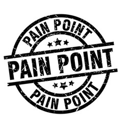 pain point round grunge black stamp vector image