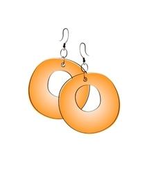 Pair of ethnic jewelry vector image