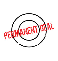 Permanent deal rubber stamp vector
