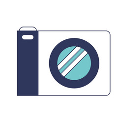 photo camera icon in blue color sections vector image