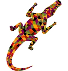 Polygonal crocodile vector image