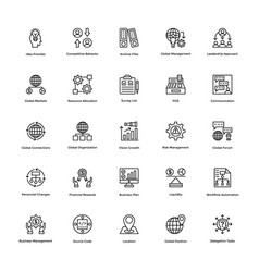 Project management line icons set 22 vector
