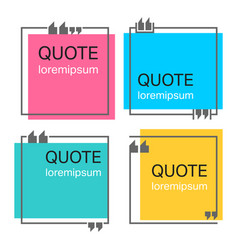 Quote square template vector