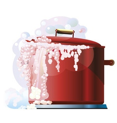 Red boiling pan vector