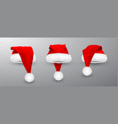 red santa claus hat isolated on transparent vector image