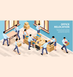 Relocation office composition vector