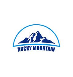 rocky mountain logo vector image