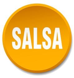 salsa orange round flat isolated push button vector image