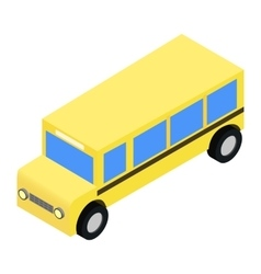 School bus isometric 3d vector