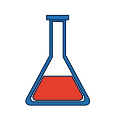 School test tube glass science laboratory vector