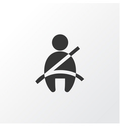 Seat belt not on icon symbol premium quality vector
