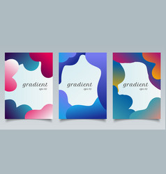 set brochure template abstract fluid gradient vector image