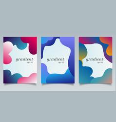set brochure template abstract fluid gradient vector image