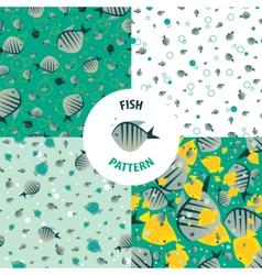 Set fish pattern vector