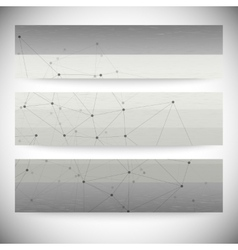Set of horizontal banners Abstract gray background vector