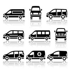 Set of transport icons - van vector