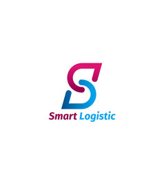 smart logistic sign vector image