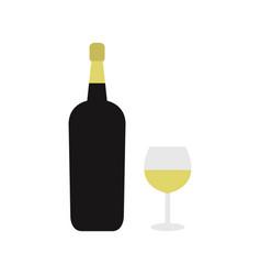 sparkling wine icon vector image