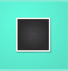 square frame isolated on blue vector image