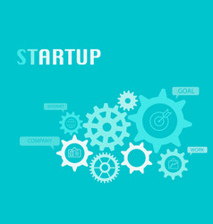 startup graphic for business concept vector image