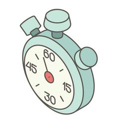 stopwatch icon isometric style vector image