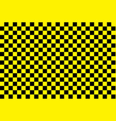 Taxi pattern black-yellow checkerboard background vector