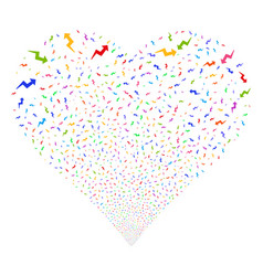 Trend fireworks heart vector