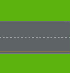 two-lane track top view icon flat isolated vector image