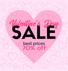 Valentines day sale card template vector