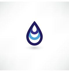 Water Drop Symbol vector image