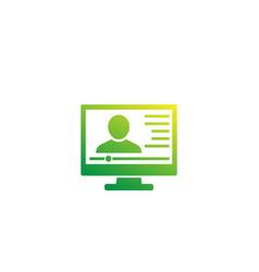 Webinar icon online training vector