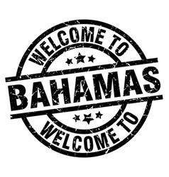 Welcome to bahamas black stamp vector