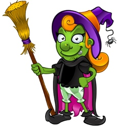 Witch Looking Happy vector image