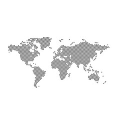world map square dotted style isolated on white vector image