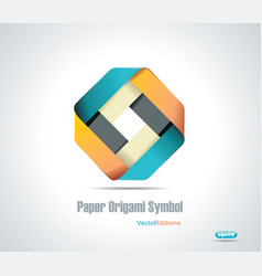 Corporate icon Rhombus Ribbon vector image