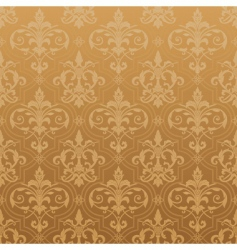 damask seamless wallpaper vector image vector image