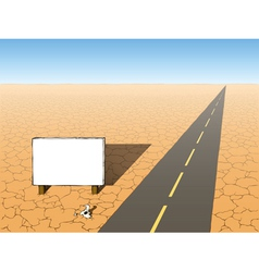 desert to the road vector image vector image