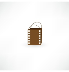 Film bag icon vector image