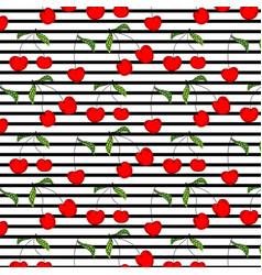 hand drawn cherry pattern vector image