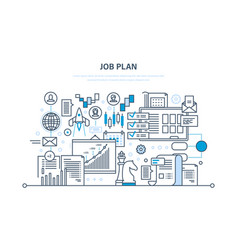 job plan time management business strategy vector image