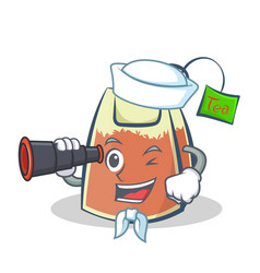 Sailor tea bag character cartoon art with vector
