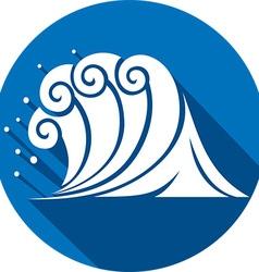 Sea Wave Icon vector image vector image